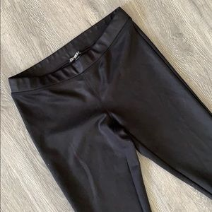 Express pleather (faux leather) leggings